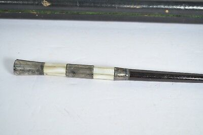 Antique Music Conductors Baton Sterling Silver Mother Of Pearl Abalone Segmented