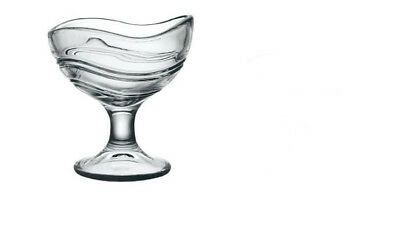 E1 Clear Glass Sherbet Bowls Cup Fruit Ice Cream  Stained Glass Cup 175ML