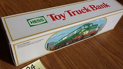 1984 Hess Toy truck bank oil truck untouched original with box & inserts