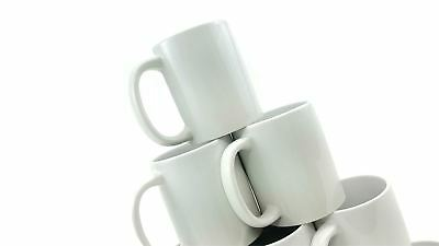 11oz White Large Handle Mugs Sublimation Mug NEW PACKAGING, 6 MUGS IN 1 Gift Box