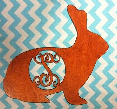 "18"" Wooden Vine Or Times Roman Font Chocolate (stained) Bunny Choice! Custom"