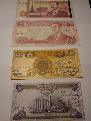 Authentic New and Old Iraqi Dinar Note Set - (with 4 New Coin BONUS!!)
