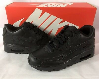 NIKE AIR MAX 90 LTR Shoes Size 6.5Y BLACK 833412-001 **NEW** FREE SHIPPING