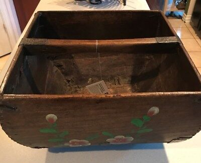 Wooden Chinese Square Rice Measuring Box/Bucket - Early 1900s