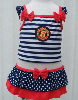 Manchester United FC Girls Swimsuit Swimming Costume Bathing suit 12/18 Months
