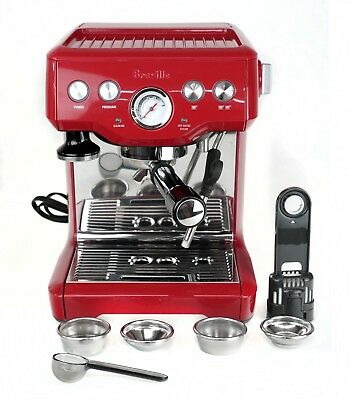 Breville BES840CBXL the Infuser Espresso Coffee Machine - Cranberry Red
