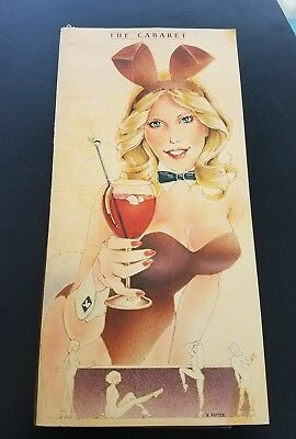 Playboy Club Hotel And Resort Lake Geneva Menu The Cabaret 20Th Anniversary 1980