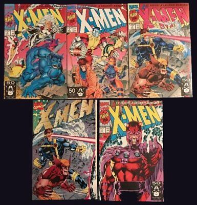 1991 X-Men Issue # 1 - All 5 Covers - Near Mint Condition - Jim Lee Art