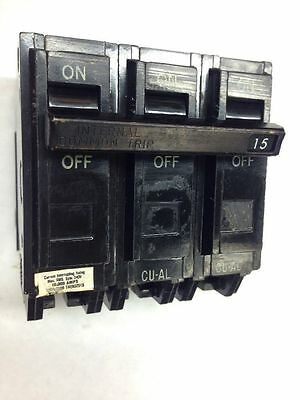 GE THQB 3 Pole Phase 15 Amp 240v THQB32015 Circuit Breaker 15A General Electric