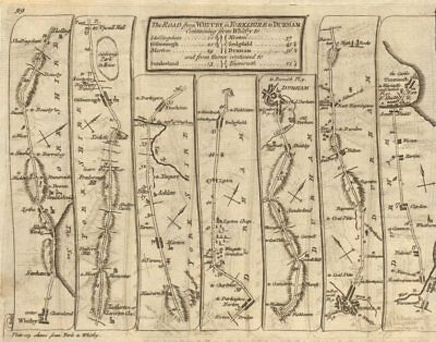 Whitby Stockton-on-Tees Sunderland Durham South Shields. KITCHIN road map 1767