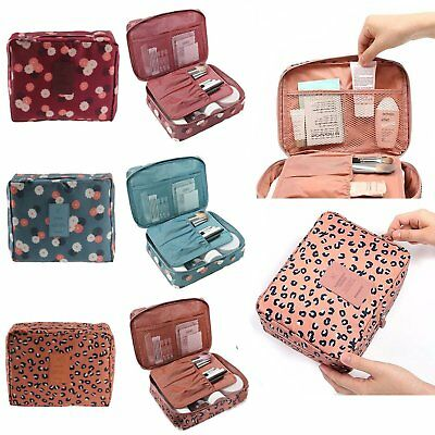 US Multifunction Makeup Case Women Travel Cosmetic Pouch Toiletry Organizer Bag