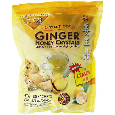 PRINCE OF PEACE - Ginger Honey Crystals with Lemon Instant Tea - 30x18g Sachets