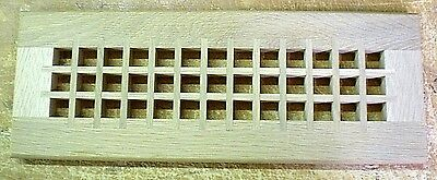 4 x 14 White Oak Wood Drop-in Style Register Cover Cold Air Return Vent