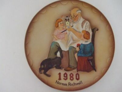 Norman Rockwell Museum's The Toymaker - 1980 First Annual Collector Plate