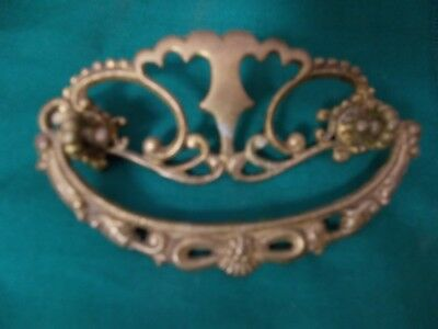 "Vintage Ornate Brass 4"" Drawer Pull"