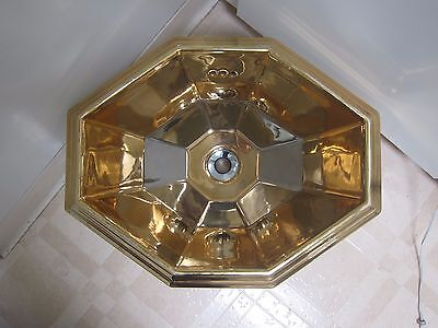 "Antique gold painted ceramic sink basin powder room Made in Italy ""Giorgio"""