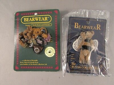 New Boyds Bears Bearwear Pins Set of 2 Bee Bear