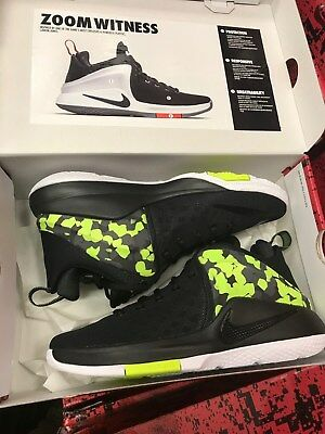 Mens Nike Zoom Witness Lebron Sneakers New, Black Volt Camo 852439-017