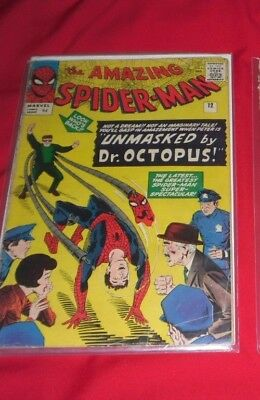Amazing Spiderman 2Nd Doc Octopus 1964 Number 12 Very Sort After Comic !