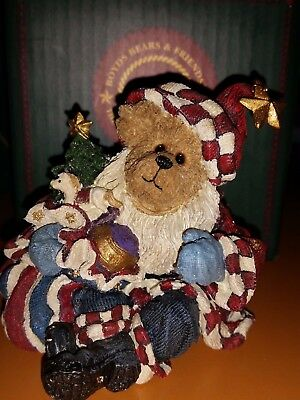 Boyd's Bears Retired All American Christmas Nicholas Bearyproud Figurine #228399