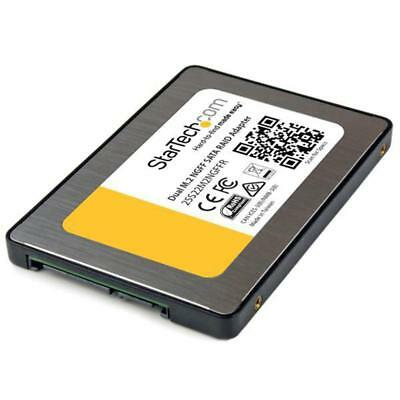 "StarTech 2x M.2 NGFF SSD to 2.5"" SATA Adapter w/ RAID & TRIM Support"