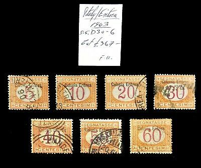 ITALY ERITREA 1903 Postage Dues Fine/Used NC904