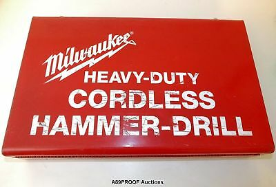 "MILWAUKEE 0420-1 3/8"" Heavy Duty Cordless Hammer Drill VSR 12V NiCD Charger Case"