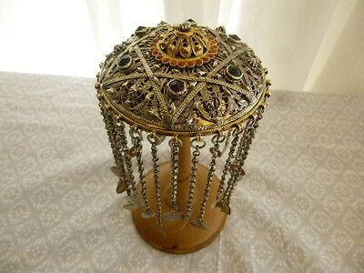 Antique Ottoman Greek Middle East Gild Silver Headdress Tepelik Turkish Jewelry