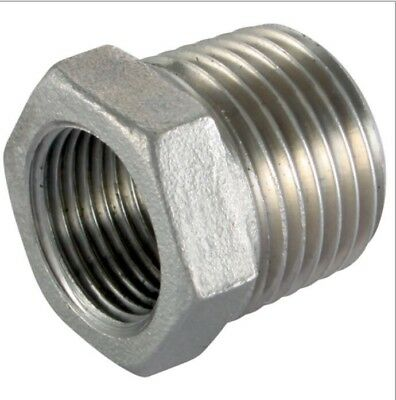 Stainless Steel 316, Male X Female Bsp Reducing Bushes