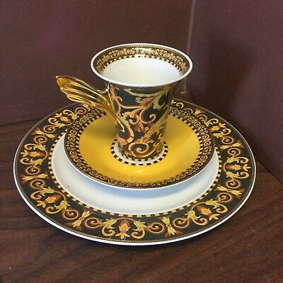 Rosenthal Versace Barocco Cup and Saucer and Plate