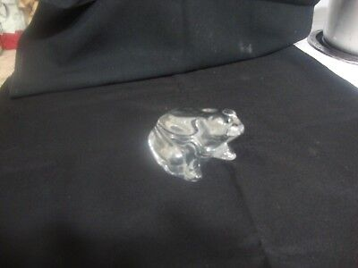 Baccarat glass/crystal frog paperweight figurine