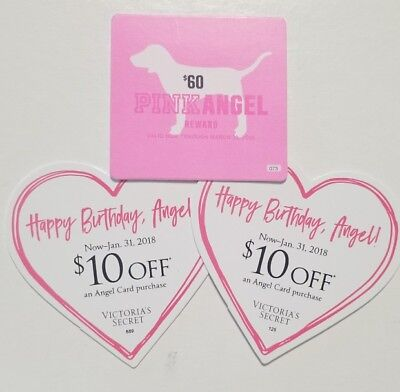 Victoria Secret  Coupon Angel Reward Total $80  plus more.   In  Stores only.