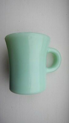 Vintage Fire King Jadeite Restaurant Ware Coffee Mug Cup C Handle Heavy