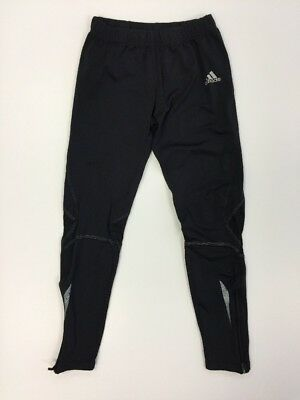 Adidas Formotion Kids Black Joggers Zip Up Ankles Mesh Knees Athletic Wear A70