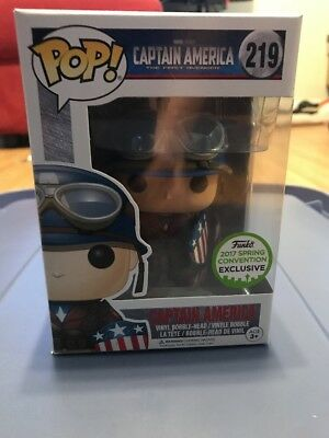 "Sce Exclusive The First Avenger Captain America 3.75"" Pop Vinyl Figure Funko 219"