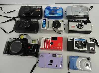Lot of 11 Assorted Cameras As/Is