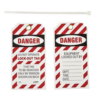 Pack Of 10 Brady Lt10 Y383760 Lockout Tags: Danger, Do Not Operate