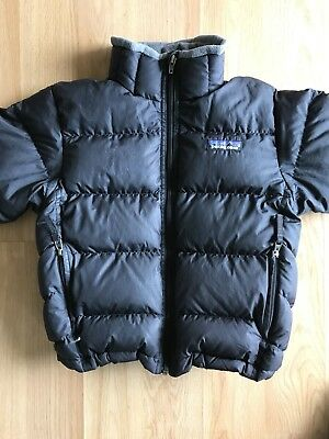 Patagonia Kids Down Jacket XS (5-6) Black Coat Pre Owned Puffer Youth