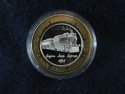 $10 Silver Strike Main Street Station Empire State Express .999 Silver Outer Rim