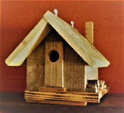 One Of A Kind Rustic Outdoor/indoor Birdhouse W/clean Out-Hiding Space
