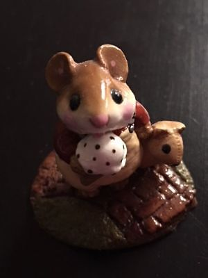 """Wee Forest Folk M-100 """"Mousey's Cone"""" Mustard RETIRED"""