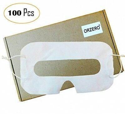 100 Pack Orzero VR Disposable Sanitary White Eye Mask Virtual Reality Headset