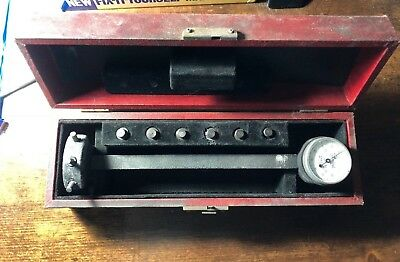 VINTAGE CENTRAL TOOL CO UNIVERSAL DIAL TEST INDICATOR JEWELED ORIGINAL BX No. 20