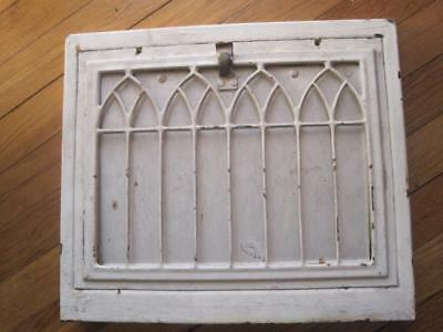Set of 3 Vintage Heat Air Grates Register Gothic Arched Wall Old Rustic