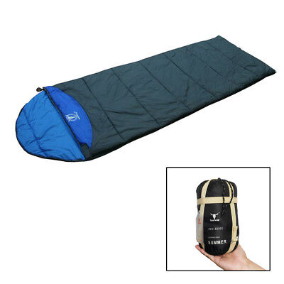 Portable Outdoor Compact Camping Sleeping Bag Hiking For Summer Blue