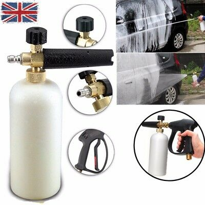 Snow Foam Lance Sprayer Washer Jet Bottle Car High Pressure Wash Gun+Holder UK