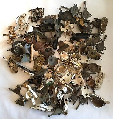 Large Lot of 90+ Antique Sash Locks, Lifts, Stays, Screen Hooks, Misc. Pieces