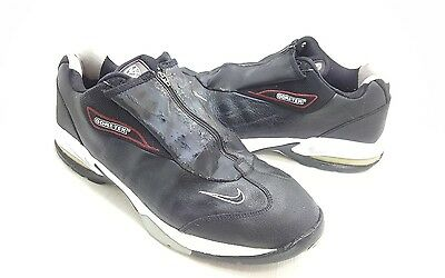 Nike Air Max Men's Size 11.5M Black Leather Gore-Tex Spike Golf Shoes