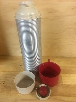VTG Silver Thermos hot and cold King-Seeley quart size picnic tailgating party