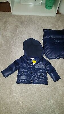 NEW $175 RL Polo Ralph Lauren Baby Boys Down Convertible Bunting Snowsuit 6M NVY